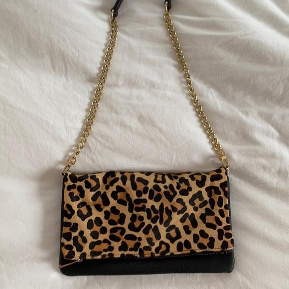 Express cheetah print bag/clutch